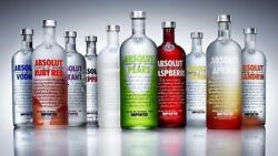 Absolute Vodka Bottles Colourful Canvas Wall A2 A1 A0 Large Gift Present Oc0005