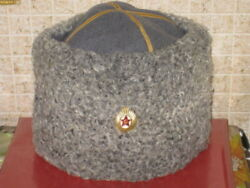 Soviet Military Red Army Colonel Officer Papakha Natural Astrakhan Fur Cap Winte