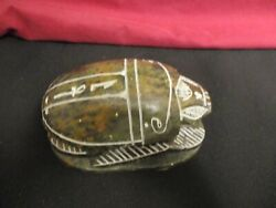 Egyptian Carved Stone Scarab Beetle