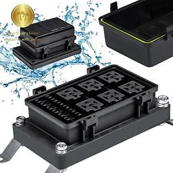 Fuse Relay Box Block Universal Waterproof For 12v Automotive Vehicles Cars Boat