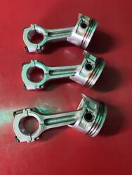 2006 Mercury 25hp 4 Stroke 3 Cyl Pistons And Connecting Rods
