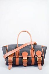 Authentic Acne Studios X Mulberry Black/brown Buckled Scotchgrain Tote Bag