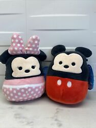 ❤️nwt Disney Squishmallows 5in Mickey And Minnie Mouse Cute And Soft Couple Pack ❤️