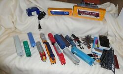 Large Lot Assorted Tyco, Curtis, Etc. Ho Train Engines, Cars, Track Accessories