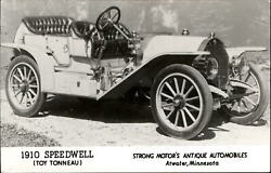 1910 Speedwell Toy Tonneau Strong Motor Antique Autos Atwater Mn Rppc