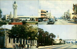 Beverly California 1950s Cars Gas Station Multi-view Post Office Shopping