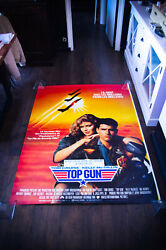 Top Gun Style A 4x6 Ft French Grande Rolled Vintage Movie Poster Original 1986