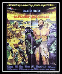 Planet Of The Apes 24 X 32 French Moyenne Fold Movie Poster Original 1963