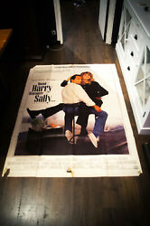When Harry Meet Sally 4x6 Ft Vintage French Movie Poster Original 1989 Used