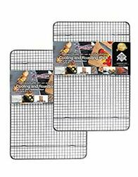 Set Of 2 - Stainless Steel Roasting And Cooling Rack Fits Jelly Roll Pan, Rust P..