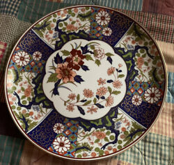 """Antique Chinese Export Famille Rose Floral Plate 10"""" Marked"""