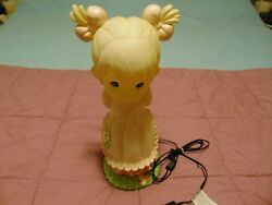 Vintage Spring Blow Mold Girl Precious Moments Light Up Spring/holiday Decor