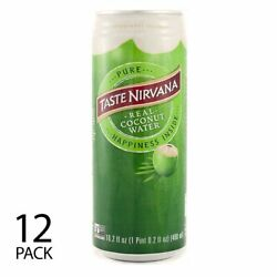 Taste Nirvana All Natural Real Coconut Water |12 X 16 Oz Bpa Free Cans