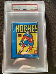 1979 Topps Unopened Hockey Wax Pack Psa 7 Nm Gretzky Rc Rookie Year 🔥 🔥 📈