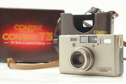 [near Mint+++ Boxed] Contax T3 70 Years Limited Point And Shoot Double Teeth Japan