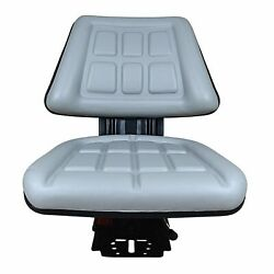 Grey Tri Suspension Seat Fits Ford /new Holland 5000 5600 5610 5900 5910 Tractor