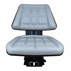 Grey Tri Suspension Seat Fits Ford/new Holland 4000 4100 4110 4600 4610 Tractor