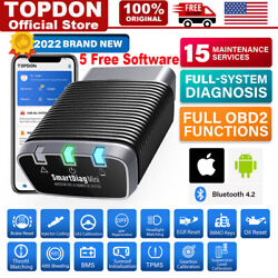 Topdon Car Obd2 Scanner Tool Bluetooth All System Abs Srs Tpms Immo Oil Reset