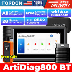 Topdon Obd2 Bt Scanner Auto Diagnostic Tool Code Reader Key Coding Immo Tpms
