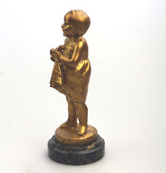 A Pretty And Well Modelled Antique French Bronze Sculpture By Jose Dunach C.1920