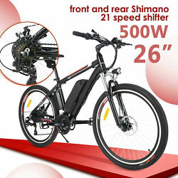 Vivi 26 350w Electric Bike Mountain Bicycle Ebike Shimano 21speed 36v H 87