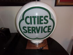 Cities Service Gas Pump Globe 13.5 Inch Reproduction Lighted
