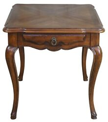 Vintage John Widdicomb Walnut Matchbook French Country Side Accent Table 26