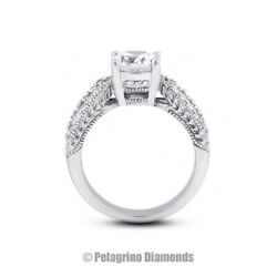 1 3/4ct I Si3 Round Natural Diamonds 14kw Gold Vintage Style Sidestone Ring