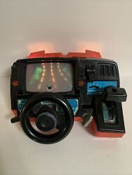 Dashboard Racing Game Red Corvette Playmates 1985 Driving Arcade Turns On As Is