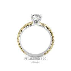 1.09ct D-vs2 Round Natural Diamonds 18k T/t Gold Vintage Style Side-stone Ring