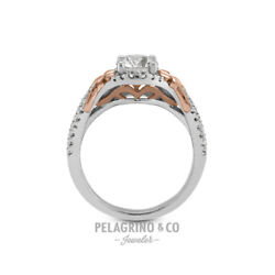 1 1/2ct G Si2 Round Natural Diamonds 18k T/t Gold Vintage Style Sidestone Ring
