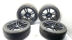 2010-2017 Bmw 550i Gt F07 Wheel Rims W/ Tires 20and039and039 Oem Painted Black M Series