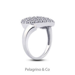 2 Tcw F Vs2 Round Brilliant Natural Certified Diamonds 14kw Gold Cocktail Ring