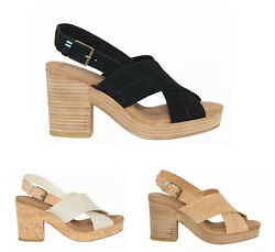 Toms Ibiza Sandal Heel Wedge - Multiple Colors   Free Shipping