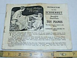 Schoenhut Wood Toy Piano Instructor And Catalog Book 1920s