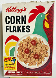 Vintage 1960's Huckleberry Hound Pixie And Dixie Kellogg's Corn Flakes Cereal Box