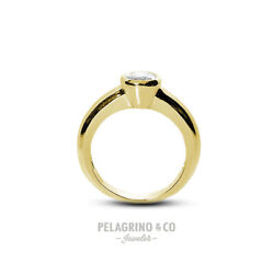1ct F Si1 Round Natural Diamond 14ky Gold Halo Solitaire Engagement Ring