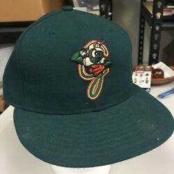 Milb Greensboro Grasshoppers New Era Authentic 59fifty Fitted Hat - Green