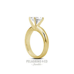 1/2ct H Vs2 Round Natural Diamond 18ky Gold Classic Solitaire Engagement Ring