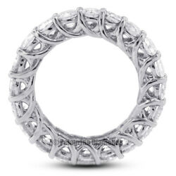 4 1/2 Tcw H Si1 Round Cut Earth Mined Certified Diamonds 14kw Gold Eternity Ring