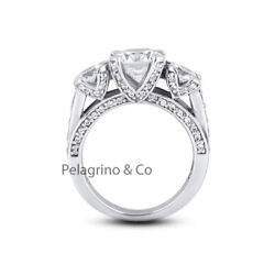 1.97ct F-vs2 Round Natural Diamonds 14kw Gold Vintage Style Engagement Ring