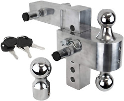Uriah Products Aluma-tow 6 Drop Adjustable Ball Mount For 2 Receiver All Sizes
