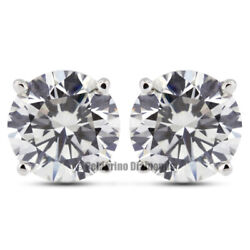 3/4 Tcw D Si1 Round Brilliant Earth Mined Certified Diamonds 14kw Gold Earrings