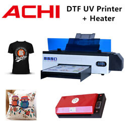 Dtf Uv Printer Direct To Film T-shirt Flatbed Printer Epson R1390 W /oven Heater