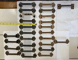 26 Vintage/antique Solid Brass Cast Iron Drawer Pull/handle/window Lift