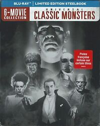 Universal Classic Monsters 6 Movie Collection Limited Edition Steelbook