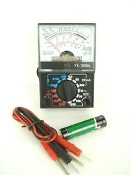 14 Range Analog Multimeter With Battery And Leads Hobbyist Homeowner