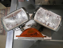 Cibie 175 Vintage Clear Fog Lamps W/spare Lens, Complete, Working Nos, No Covers