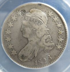 1823 50c O-109 Capped Bust Half Dollar Anacs Very Good Vg10 Details R5+