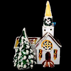 Retired Dept 56 Steepled Church 50054 1976 Snow Village Christmas Collection